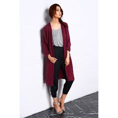 Lagerose - Night Dance Long Coat In Red