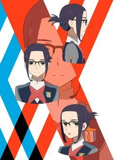 Os personagens de DARLING in the FranXX Ikuno