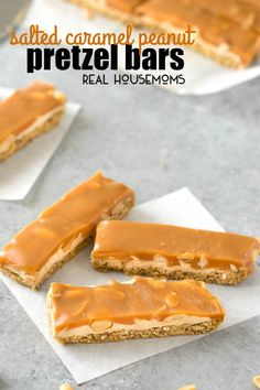 These Salted Caramel Peanut Pretzel Bars are easy to make and sure to delight your whole family! Homemade candy bars like this are perfect to give away or snack on yourself!