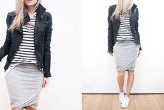 manieren om een pencil skirt te dragen