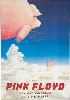 9f2f364d0a04 pink floyd concert posters   Pink Floyd Oakland Stadium Concert Poster  (Bill   Lot 49375