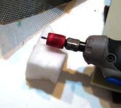 Tutorial - How-to use  a dremel tool and magic eraser for sanding  blog.simple-inspirations.com by maria.t.rogers