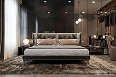 Interior design studio based in Kiev, Ukraine Canopy Bedroom, Master Bedroom Interior, Master Bedroom Design, Home Bedroom, Modern Bedroom, Bedroom Layouts, Bedroom Styles, Luxury Interior, Interior Architecture