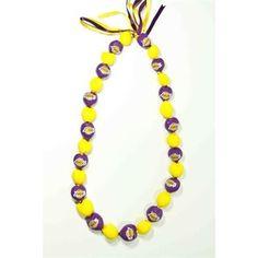 Style Pasifika Los Angeles Lakers Go Nuts Kukui Nut Lei Necklace