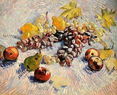 Nature Morte Pommes,Poires,Raisins,Citrons
