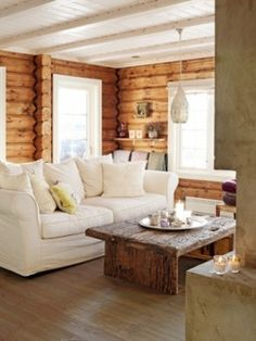 I think I could enjoy this style in a log house.