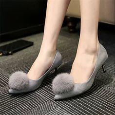 Женская обувь - Pumps/Heels ( Резина , Черный/Серый ) Высокий тонкий каблук - 0-3см – RUB p. 730,91
