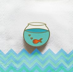 I wish it wasn't sad :( Lonely Goldfish Limited Edition Enamel Pin by PINCLUB on Etsy Jacket Pins, Cool Pins, Pin And Patches, Stickers, Pin Badges, Lapel Pins, Pin Collection, Just In Case, Creations