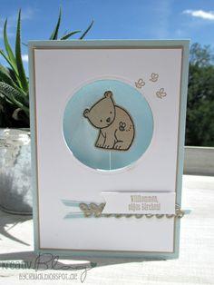 Kreativ Blog by Claudi: Tierische Spinner-Cards zur Geburt