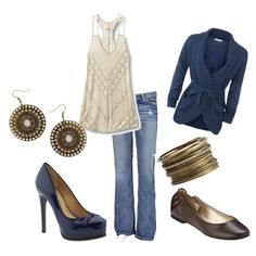 Dress it Up or Dress it Down, created by nicolerenier.polyvore.com