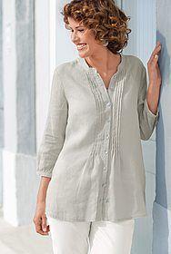 Leinen Bluse Online Katalog, Rock, Tunic Tops, Women, Fashion, Linen Fabric, Cotton, Stone, Moda