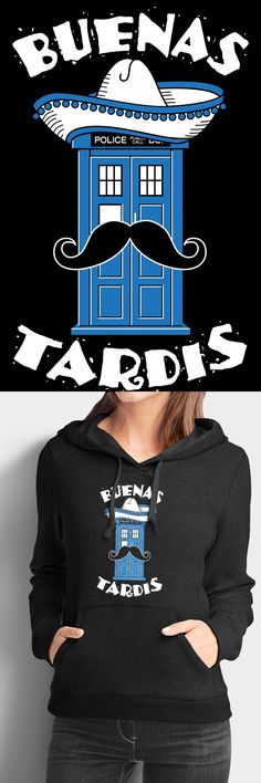 Buenas Tardis!  Available in a Hoodie, V-Neck, and Premium Tee in many different colors.  Select your favorite and get yours before they are gone.  Click the image to reserve yours.