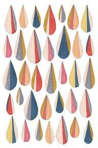 regndroppar akvarell