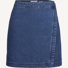 Buy Fat Face Esme Denim Wrap Skirt, Denim from our Women's Skirts range at John Lewis & Partners. Denim Wrap Skirt, A Line Denim Skirt, Blue Denim Skirt, Denim Fashion, Look Fashion, Recycle Old Clothes, Baby Girl Patterns, Fat Face, Vintage Skirt