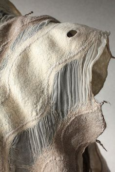 Felted. OMG. @Cynthia Moreno Bicker @Peg Hewitt Gyldenege you have to see this. Love the wavy lines!