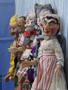 This photo of puppets illustrates a newspaper review of 'Decency and Disorder: the Age of Cant 1789-1837' by Ben Wilson.