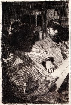 """bofransson:  """"Reading  Anders Zorn - 1891  """""""