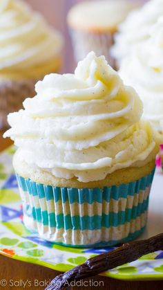 My favorite homemade vanilla cupcake recipe. Ditch that boxed mix!