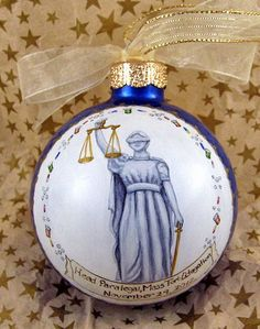 Blind Justice ornament