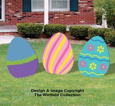Enormous Easter Eggs Wood Pattern Set