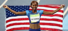 Dalilah Muhammad, Track and Field:     Dalilah Muhammad celebrates winning gold in the women's 400-meter hurdles at the Rio 2016 Olympic Games at the Olympic Stadium on Aug. 18, 2016 in Rio de Janeiro.        - The Best Photos From Rio 2016: Aug. 18 Edition