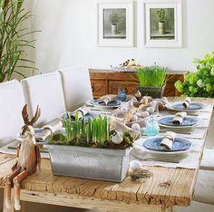 beautiful easter table decoration idea original centerpiece eggs rabbit