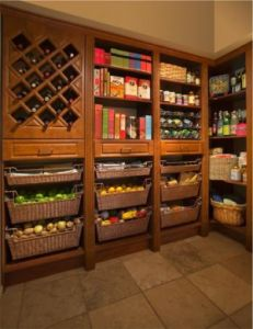 My dream pantry! My dream pantry! My dream pantry! Kitchen Pantry Storage, Kitchen Pantry Design, Kitchen Pantry Cabinets, Wine Storage, Pantry Baskets, Food Storage, Storage Ideas, Pantry Room, Pantry Shelving