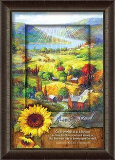 Rise and Shine, Sunflower Framed Art  -