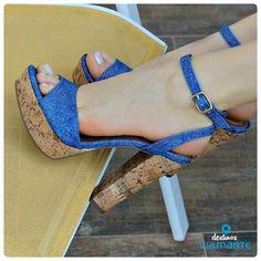 salto alto - jeans - heels - party shoes - summer - Ref. 14-21702 - Alto Verão 2015