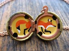 fox locket, or anything else painted inside an old one...