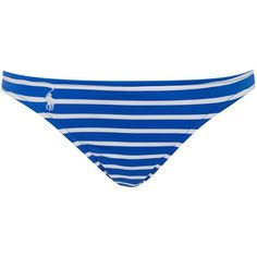 Polo Ralph Lauren Bengal stripes taylor hipster bikini brief (€63) ❤ liked on Polyvore featuring blue, women, blue jersey and polo ralph lauren