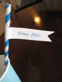 """""""Time Flies"""" Airplane-Themed First Birthday Party 