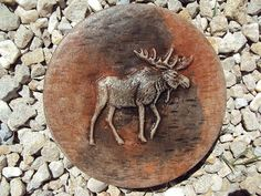 Hey, I found this really awesome Etsy listing at https://www.etsy.com/listing/280957138/moose-stepping-stone-garden-plaque