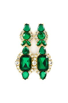 Sedona Earrings in Sultry Emerald