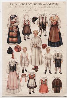 LETTIE-LANE-NORWAY-GIRL-BOY-THEIR-NURSE-Paper-Dolls-Page-1910-