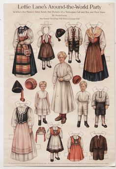 LETTIE-LANE-NORWAY-GIRL-BOY-THEIR-NURSE-Paper-Dolls-Page-1910-