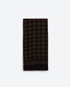 HOUNDSTOOTH JACQUARD SCARF-View all-ACCESSORIES-WOMAN | ZARA Canada