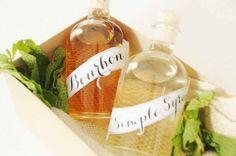 Minz-Bourbon und Sirup