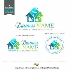 Cleaning logo, House Cleaner Logo, Cleaning and maintenance of yards, Cleaning Service Branding, Landscaping services, Home maintenance 420 Cleaning Service Logo, Cleaning Services, Branding Kit, Branding Design, Real Estate Logo Design, Landscape Services, Round Logo, Home Logo, Business Names