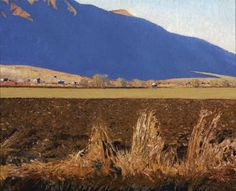 Blue Shadows and Field, Gary Ernest Smith, 24 x 30