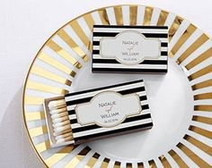 Personalized Black Matchboxes Classic Set By Gracefuleventfavors