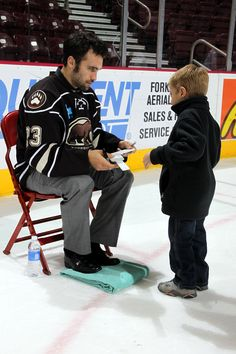3cc5cb6a9c3 Post Game Team Autograph Session gives fans of all ages a chance to meet  the players. Seen here is Hershey Bears player Chris Conner.