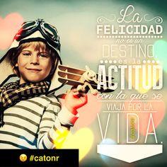 La ACTITUD! con la que TU viajas por esta VIDA te da: SALUD o enfermedad! ALEGRÍA o tristeza! Es tu decisión #catonr