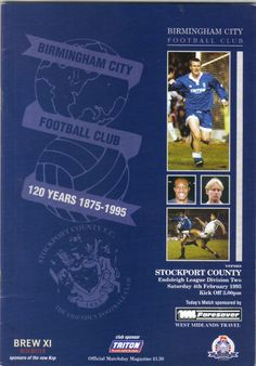 Birmingham City v Stockport County Football Programme Division 2 04/02/1995