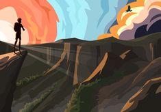 #illustration #ilustracion #freesolo #escalada #mountain #montaña #sunset #atardecer #colores #colors #wayoflife Illustration, Vietnam, Prints, Free, Bouldering, Friends, Illustrations, Colors