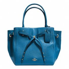 TURNLOCK TIE TOTE IN REFINED PEBBLE LEATHER