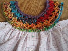 How about this crochet yoke for a baby dress???http://mrsmicawber.blogspot.com/2011/05/sundress-for-little-c.html