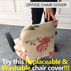 This Decorative Computer Office Chair Cover is made from soft, comfortable and wrinkle-resistant fabric that will protect your new seat from spills and stains. It does not slip or slide around plus it is removable and reusable. This will cover the tear, rips, and tattered edges of your plain old chairs. Its elastic edge holds the cover securely in its place.