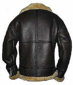 Men's Brown Flying B3 Real Shearling Ginger Sheepskin Leather Bomber Jacket