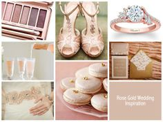 Rose Gold Color Palette Rose gold wedding color